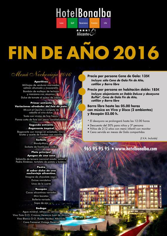 Planes de fin de a o nochevieja benidorm 2016 for Menu de fin de ano en casa